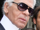 Karl Lagerfeld at the Hotel de Rome in Berlin