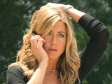 Jennifer Aniston on the set of 'Bountry Hunter', New York City