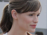Jennifer Garner on the set of her new film &#39;Valentine&#39;s Day&#39; shooting on location in Brentwood, Los Angeles