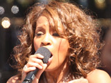 Whitney Houston performing on the 'Good Morning America' summer concert series, New York City