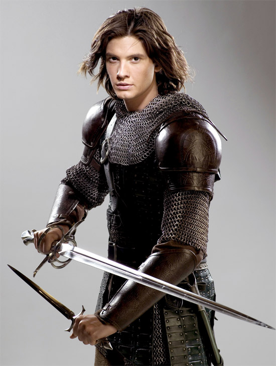 Ben in Narnia. My, what a long shiny sword you've got!