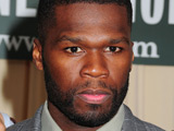 50 Cent, aka Curtis Jackson, signing copies of his book 'The 50th Law' at Barnes and Noble, New York City