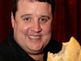 Peter Kay eats a pasty