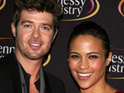 Robin Thicke reveals that he enjoys spending time with his newborn son.