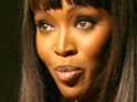 "Naomi Campbell reveals to Oprah Winfrey that she usually only dates ""strong men""."