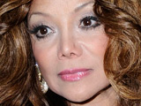 La Toya Jackson walks out of Mr Chows in Beverly Hills, Los Angeles