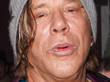 Mickey Rourke leaving Wonderland nightclub, Los Angeles