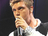 Nick Carter of the Backstreet Boys performing at the O2 Arena Dublin, Ireland.