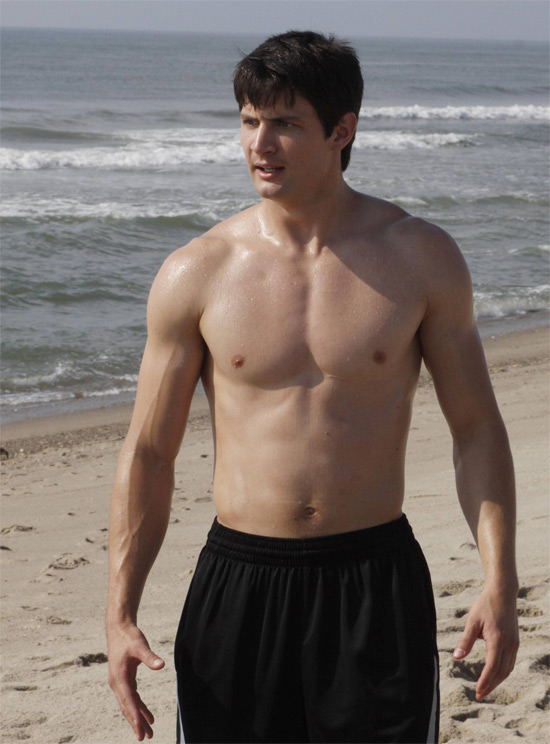 James Lafferty on the beach