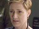 Edie Falco claims that her character in Nurse Jackie hasn't learned from her mistakes.