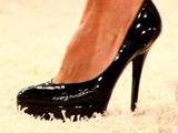 a stiletto shoe