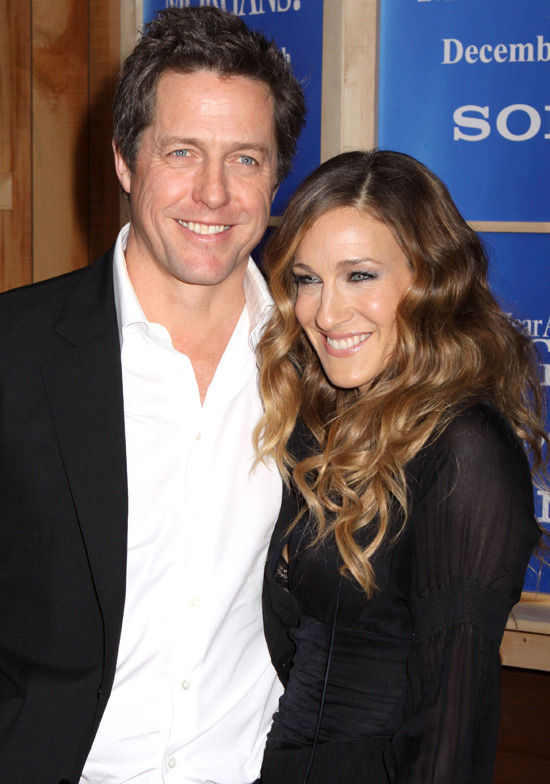 "Photo of Hugh Grant & his friend actress  Sarah Jessica Parker - Movie ""Did You Hear About the Morgans?"""