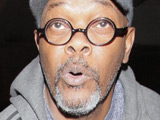 Samuel L Jackson arriving at LAX airport on a flight from London, Los Angeles, California