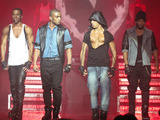 JLS performimg live on stage in concert