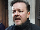 Ricky Gervais outside the Radio One studios