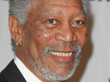 Morgan Freeman pays tribute to Nelson Mandela on his birthday with a charity bike ride.
