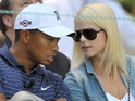 Tiger Woods's wife flies to her homeland of Sweden with the couple's two children.