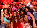 The Jersey Shore cast is reportedly sued by a woman who says that she was manhandled by their security.