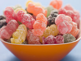 A bowl of jelly babies