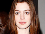 Anne Hathaway leaving La Vida restaurant in Hollywood