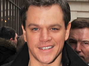 Matt Damon arriving at the BBC radio 1 studios