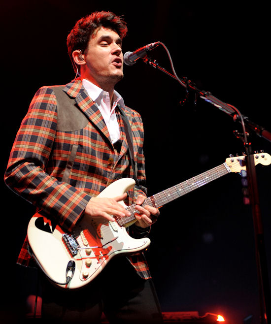 John Mayer performing at the Air Canada Centre in Toronto as a part of his 'Battle Studies' world tour