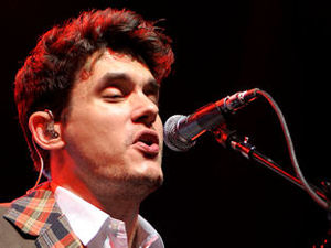 John Mayer performing at the Air Canada Centre in Toronto as a part of his Battle Studies world tour