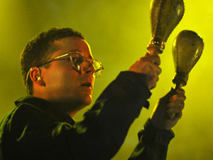 Alexis Taylor of Hot Chip performing live at O2 Academy Leeds