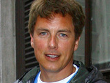 John Barrowman leaving the BBC Radio One studios