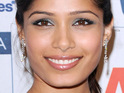 Freida Pinto is said to have replaced Aishwarya Rai Bachchan in a new campaign for L'Oreal.