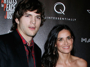 Ashton Kutcher and Demi Moore at the 3rd Annual Pre-Oscar Hollywood Domino Gala
