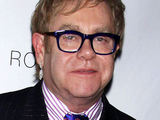 Sir Elton John and partner David Furnish attending a special VIP performance of the Broadway play 'Next Fall' at the Helen Hayes Theatre in New York City