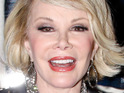 "Joan Rivers says that Mel Gibson should ""die"" because he is an anti-Semite and a racist."