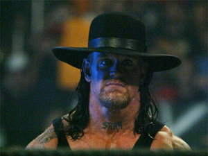 The Undertaker AKA Mark Calaway - The WWE star is 45 on Wednesday.