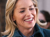 Sharon Stone filming a guest appearance on the New York City set of 'Law and Order: Special Victims Unit'