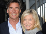 Olivia Newton John and her husband John Easterling arrive at the ITV London Studios
