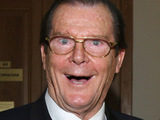 Sir Roger Moore attends a pre-concert symphony orchestra rehearsal
