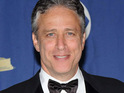 Jon Stewart announces a Q&A session with Nirvana's remaining band members.
