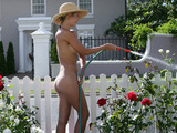 Naked gardener