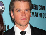 Luciana Barroso and Matt Damon at the The American Cinematheque 24th Annual Awards. Los Angeles, California.