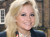 Pixie Lott out and about in Kensington, wearing a 'Scrabble' ring