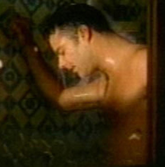 Ricky Martin in the shower
