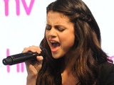 Selena Gomez performing live at the HMV store in Oxford Street