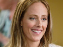 Kim Raver discusses the love triangle she is involved with on Grey's Anatomy.