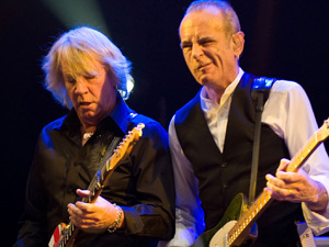Rick Parfitt and Francis Rossi of Status Quo performing live in Moscow