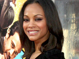 Zoe Saldana at the premiere of 'The Losers, Los Angeles