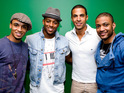 JLS are said to be working on their second album with R&B star Chris Brown.