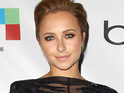 Hayden Panettiere debuts a new short blonde hairstyle at an event in Los Angeles.