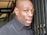 Frank Bruno outside the ITV studios, London