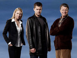 Olivia Dunham, Peter Bishop and Dr Walter Bishop from Fringe